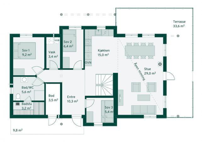 Familiehytta Hafjell Grunnplan