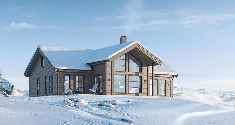 polar 118 gautefall hytta vinter